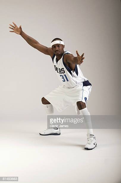 Jason Terry of the Dallas Mavericks poses for a portrait during NBA Media Day on October 4 2004 in Dallas Texas NOTE TO USER User expressly...