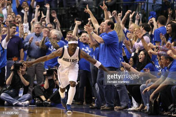 Jason Terry of the Dallas Mavericks reacts in the late in the fourth quarter while taking on the Oklahoma City Thunder in Game One of the Western...