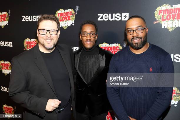 Jason Thomas Scott Lemuel Plummer and Jason Tolbert attend Tokyo Toni's Finding Love ASAP Los Angeles premiere at AMC Theaters Universal City Walk on...