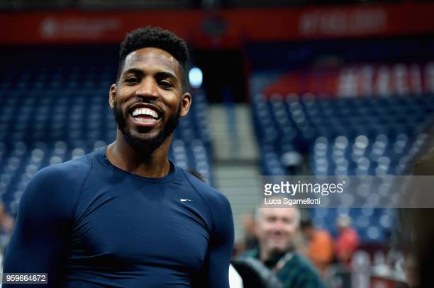 Jason Thompson #1 of Fenerbahce Dogus Istanbul during the 2018 Turkish Airlines EuroLeague F4 Fenerbahce Dogus Istanbul Official Practice at Stark...