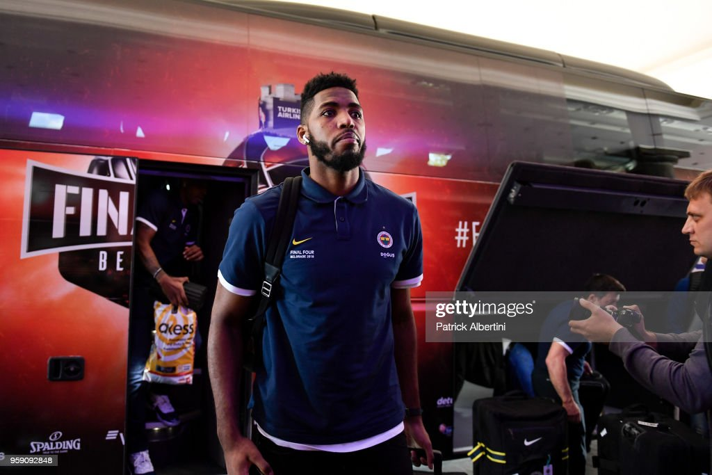 Jason Thompson, #1 of Fenerbahce Dogus Istanbul during the Fenerbahce Dogus Istanbul Arrival to participate of 2018 Turkish Airlines EuroLeague F4 at Hyatt Regency Hotel on May 16, 2018 in Belgrade, Serbia.