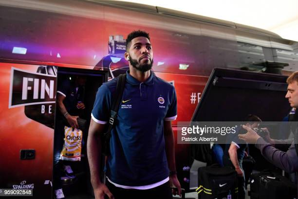 Jason Thompson #1 of Fenerbahce Dogus Istanbul during the Fenerbahce Dogus Istanbul Arrival to participate of 2018 Turkish Airlines EuroLeague F4 at...