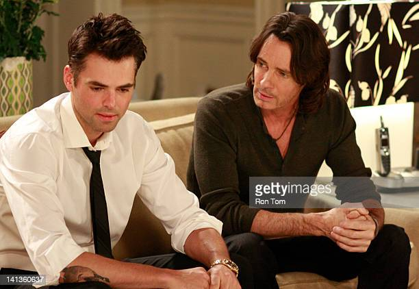 HOSPITAL Jason Thompson and Rick Springfield in a scene that airs the week of March 19 2012 on ABC Daytime's 'General Hospital' 'General Hospital'...