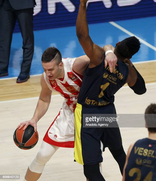 Jason Thompson of Fenerbahce Dogus in action during the Turkish Airlines Euroleague week 28 basketball match between KK Crvena Zvezda and Fenerbahce...