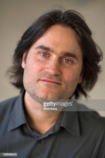 Jason Titus chief technology officer of Shazam Entertainment Ltd stands for a photograph after a television interview in San Francisco California US...