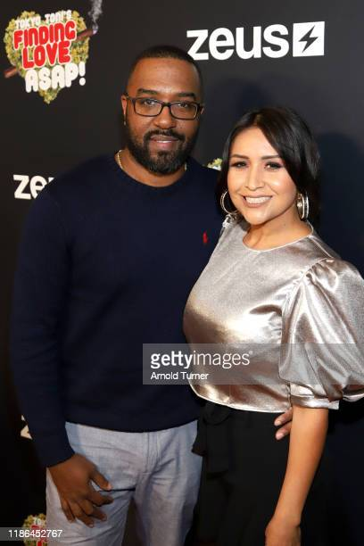 Jason Tolbert and Jazmin Tolbert attend Tokyo Toni's Finding Love ASAP Los Angeles premiere at AMC Theaters Universal City Walk on November 08 2019...