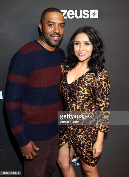 Jason Tolbert and Jazmine Maldonado attend the ZEUS New Series Premiere Party X CIROC Black Raspberry on October 19 2018 in Burbank California