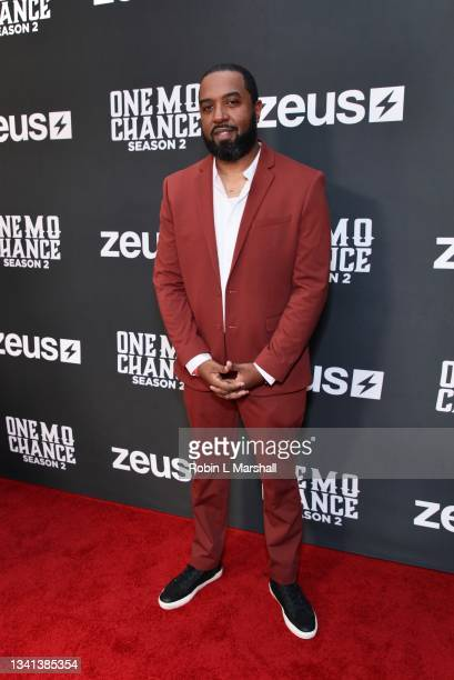 """Jason Tolbert attends Zeus Network's """"One Mo Chance"""" Season 2 Premiere at AMC Universal at City Walk on September 19, 2021 in Universal City,..."""
