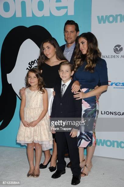 Jason Tremblay Christina Tremblay actor Jacob Tremblay Erica Tremblay and Emma Tremblay attend Lionsgate's premiere of Wonder held at the Regency...