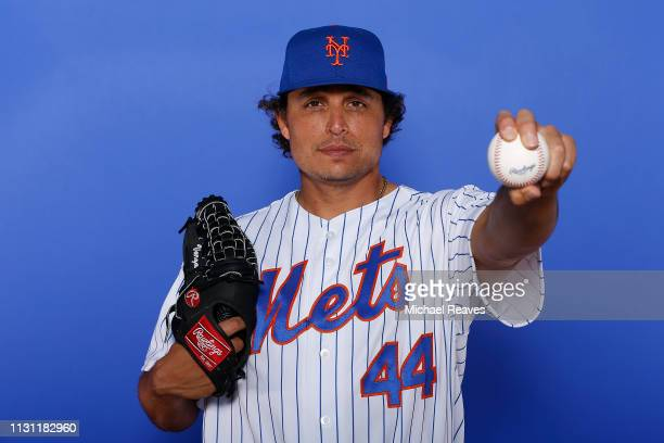 Jason Vargas of the New York Mets poses for a photo on Photo Day at First Data Field on February 21 2019 in Port St Lucie Florida