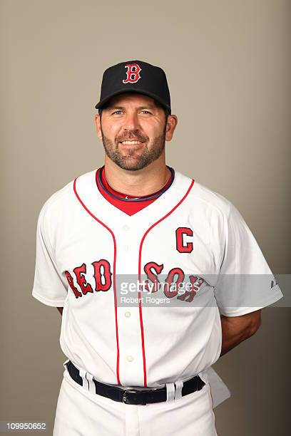 Jason Varitek of the Boston Red Sox poses during Photo Day on February 20 2011 at City of Palms Park in Fort Myers Florida