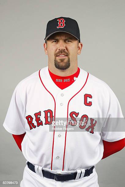 Jason Varitek of the Boston Red Sox poses for a portrait during photo day at City of Palms Park on February 26 2005 in Ft Myers Florida