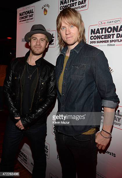 Jason Wade and Bryce Soderberg of Lifehouse arrive as Live Nation Celebrates National Concert Day At Their 2015 Summer Spotlight Event Presented By...