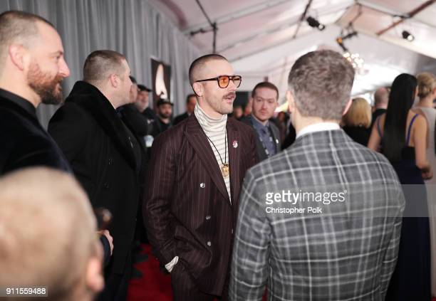 Jason Wade Sechrist Zachary Scott Carothers John Gourley and Kyle O'Quin attend the 60th Annual GRAMMY Awards at Madison Square Garden on January 28...