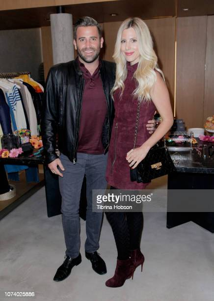 Jason Wahler and Ashley Slack attend Stephanie Pratt's MeMe London Jewelry Event at Switch Boutique on December 15 2018 in Beverly Hills California