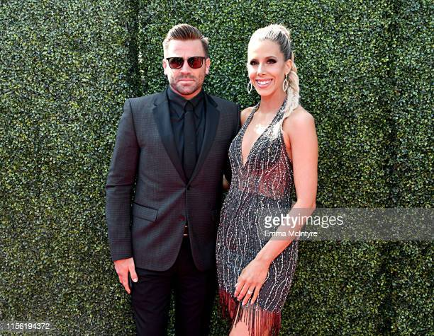 Jason Wahler and Ashley Slack attend the 2019 MTV Movie and TV Awards at Barker Hangar on June 15 2019 in Santa Monica California