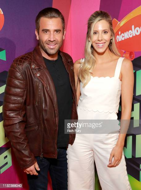 Jason Wahler and Ashley Wahler attend Nickelodeon's 2019 Kids' Choice Awards at Galen Center on March 23 2019 in Los Angeles California