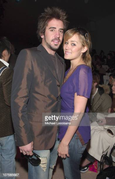 Jason Wahler and Lauren Conrad during Olympus Fashion Week Fall 2006 Tracy Reese Front Row and Backstage at Bryant Park in New York City New York