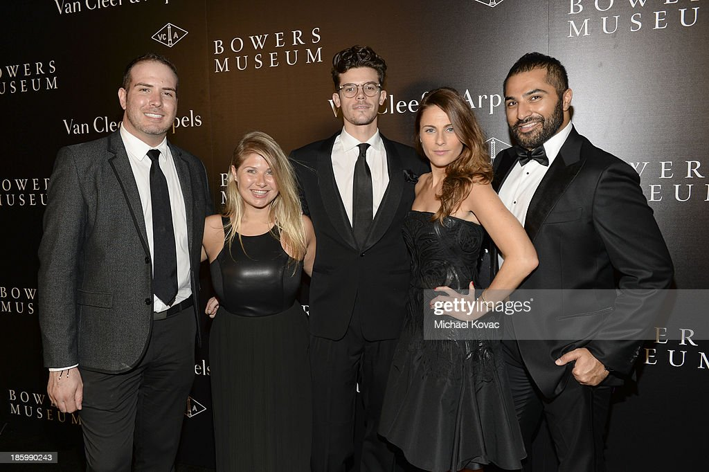 Jason Wanamaker, Danielle Whitaker, Tyler Smeeton, Moira Breslin and Akbar Hamid of This Is Mission attend A Quest for Beauty: The Art Of Van Cleef & Arpels at The Bowers Museum on October 26, 2013 in Santa Ana, California.