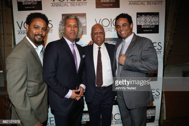 Jason Warwin Khary LazarreWhite Douglas Lazarre and Adam LazarreWhite 2017 Brotherhood/Sister Sol Voices Gala at Gotham Hall on May 11 2017 in New...