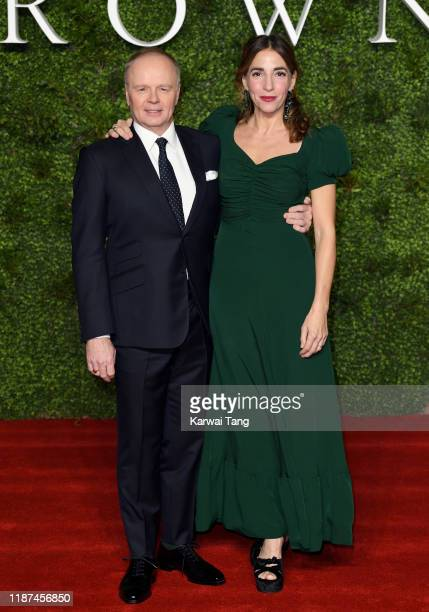 Jason Watkins and Clara Francis attend The Crown Season 3 world premiere at The Curzon Mayfair on November 13 2019 in London England