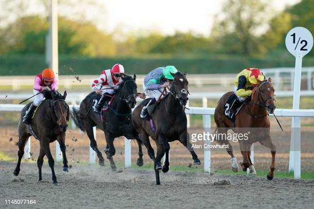 Jason Watson riding Spirit Of May win The Bet totetrifecta At totesport.com Handicap at Chelmsford City Racecourse on April 25, 2019 in Chelmsford,...