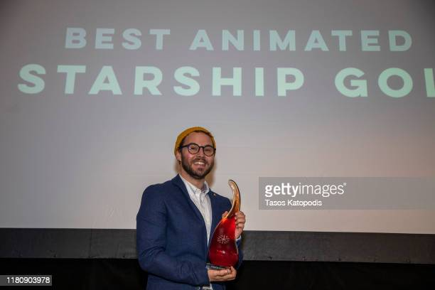 "Jason Weight of ""Starship Goldfish"" wins Best Animated Series at the Catalyst Content Awards Gala on October 13 2019 in Duluth Minnesota"