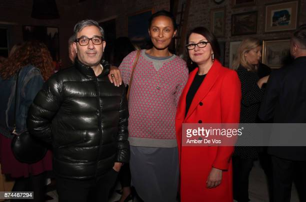 Jason Weinberg Lana Ogilvie and Rosie Katich attend Strangelove NYC's Helena Christensen and Elizabeth Gaynes Host Party Celebrating Launch of New...
