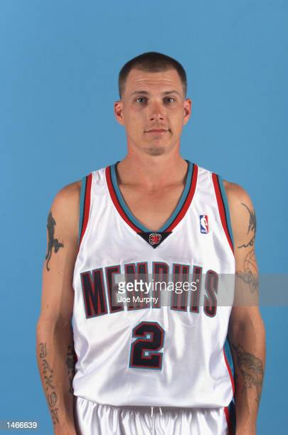 Jason Williams of the Memphis Grizzlies poses for a portrait during the Grizzlies Media Day on September 30 2002 at The Pyramid Arena in Memphis...