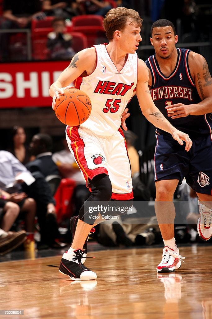 quality design a1592 6d1ec Jason Williams of the Miami Heat is defended by Marcus ...