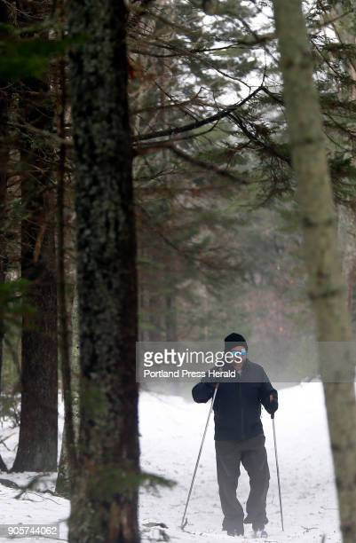Jason Williams skis through the fog at Crescent Beach State Park on Friday Williams said conditions were fair but expected to deteriorate 'The rain's...