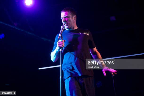 Jason Williamson of Sleaford Mods performs on stage at Razzmatazz on April 20 2018 in Barcelona Spain