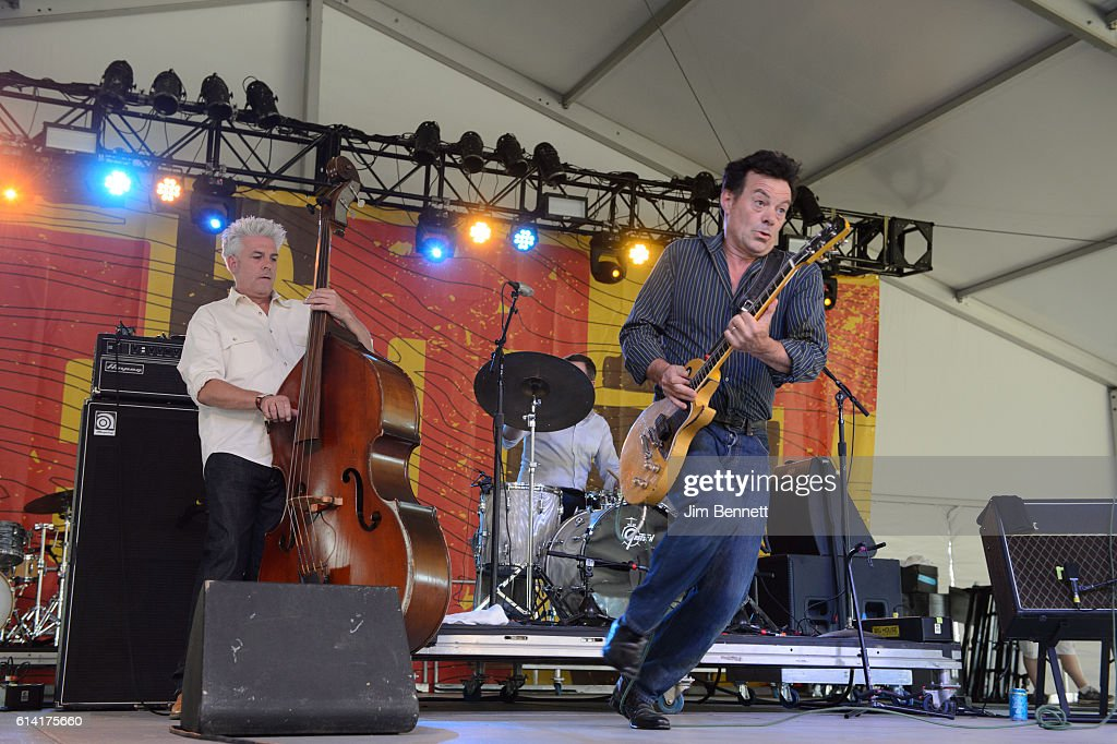 Jason Wilson and James Hunter of The James Hunter Six perform live at Austin City Limits Festival at Zilker Park on October 9, 2016 in Austin, Texas.