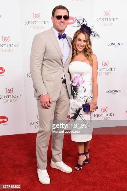 Jason Witten and Michelle Witten attend the 143rd Kentucky Derby at Churchill Downs on May 6 2017 in Louisville Kentucky
