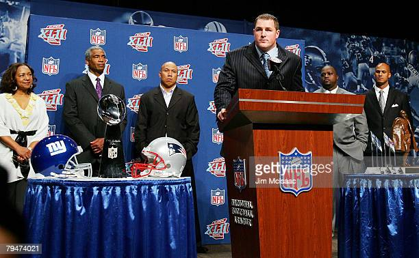 Jason Witten of the Dallas Cowboys speaks during the Walter Payton Award Press Conference on February 1 2008 at the Phoenix Convention Center in...