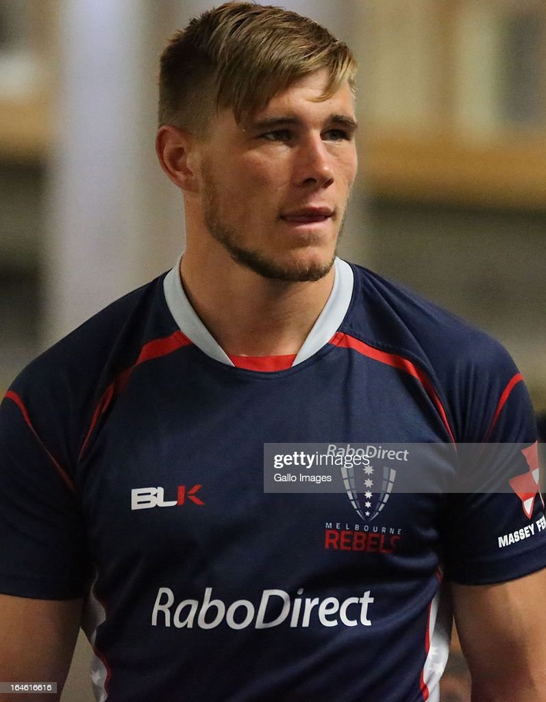 Jason Woodward during the Melbourne Rebels gym session at the Prime Human Performance Institute at Moses Mabhida Stadium on March 25, 2013 in Durban, South Africa.