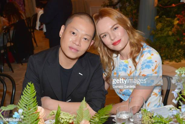 Jason Wu and Kate Bosworth attend a luncheon hosted by Marc Metrick President of Saks Fifth Avenue and Mary Martin with Jason Wu on January 17 2019...