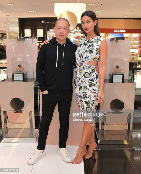 Jason Wu and Lily Aldridge attend a personal appearance at Bloomingdale's Century City on January 18 2018 in Century City California
