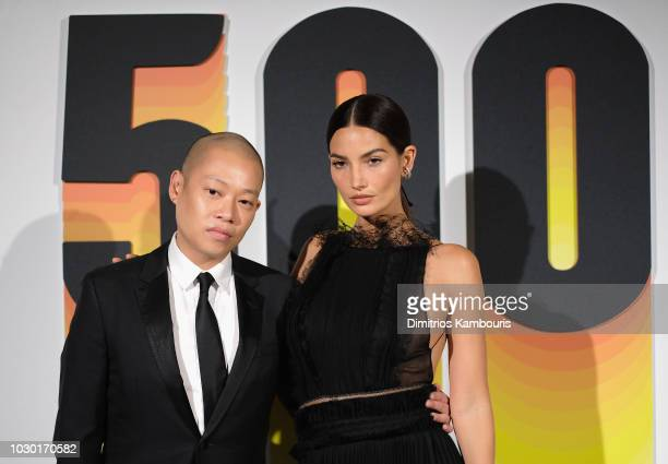 Jason Wu and Lily Aldridge attend the #BoF500 gala dinner during New York Fashion Week Spring/Summer 2019 at 1 Hotel Brooklyn Bridge on September 9...