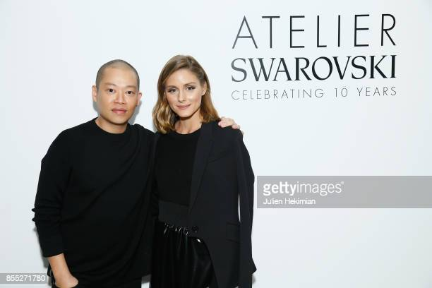 Jason Wu and Olivia Palermo attend the Atelier Swarovski By Jason Wu dinner as part of the Paris Fashion Week Womenswear Spring/Summer 2018 on...