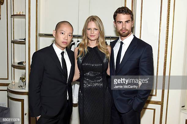 Jason Wu Anna Ewers and Theo James attend the launch of Boss The Scent on May 10 2016 in New York City