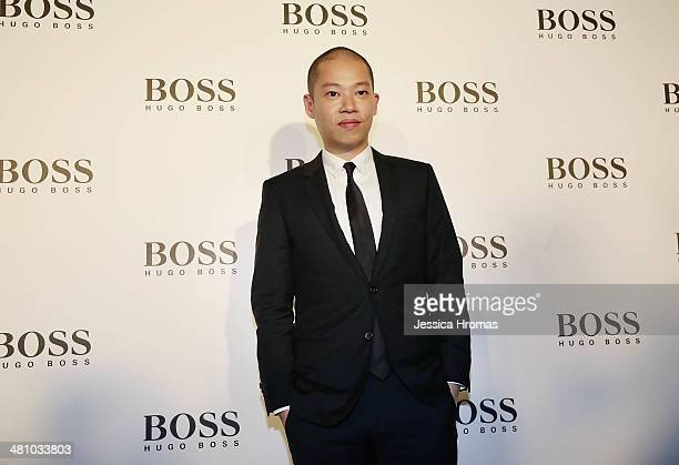 Jason Wu designer for Hugo Boss attends the opening of the Higo Boss store on March 27 2014 in Central Hong Kong