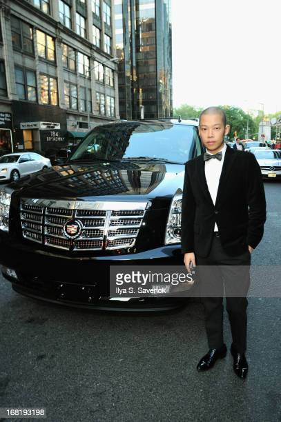 Jason Wu heads to the 2013 Met Gala in a Cadillac Escalade on May 6, 2013 in New York City.