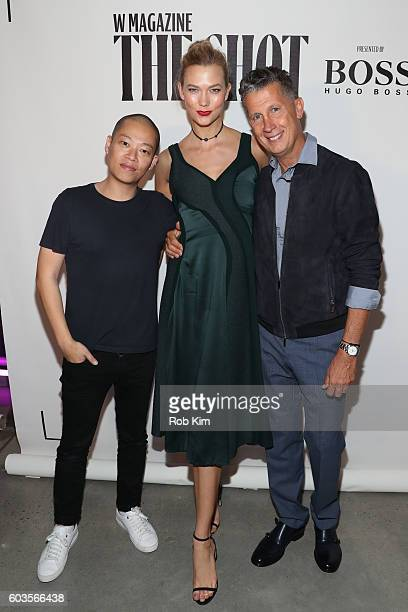 Jason Wu Karlie Kloss and Stefano Tonchi attend the W Magazine and Hugo Boss Celebrate The Shot event at the International Center of Photography...