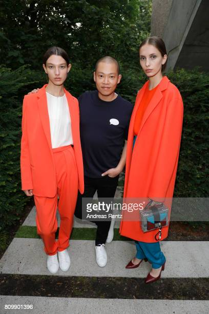 Jason Wu poses after the Hugo Boss presentation during 'Der Berliner Mode Salon' Spring/Summer 2018 at St Agnes Church on July 6 2017 in Berlin...