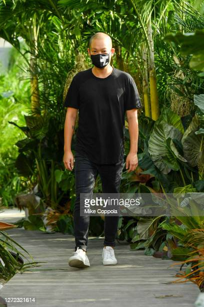 Jason Wu walks the runway for Jason Wu - September 2020 during New York Fashion Week: The Shows at Spring Studios Terrace on September 13, 2020 in...