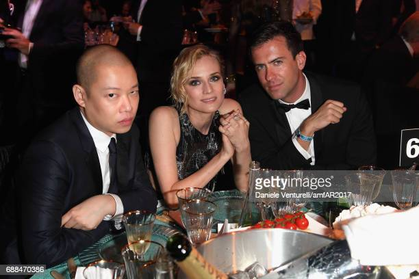 Jason WuDiane Kruger and guest attend the amfAR Gala Cannes 2017 at Hotel du CapEdenRoc on May 25 2017 in Cap d'Antibes France