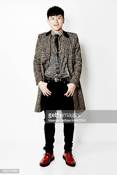 Jason Zhang Jie is photographed at the 2014 Official AMA Portrait Studio on November 23 2014 in Los Angeles California