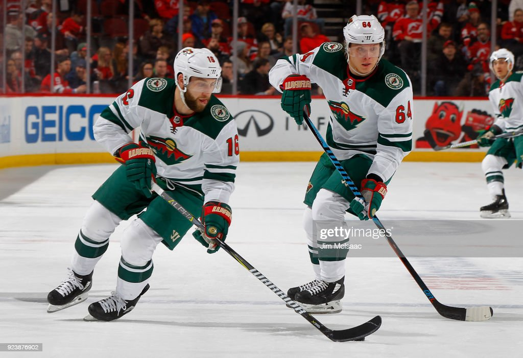 hot sale online 03f05 13513 Jason Zucker and Mikael Granlund of the Minnesota Wild in ...