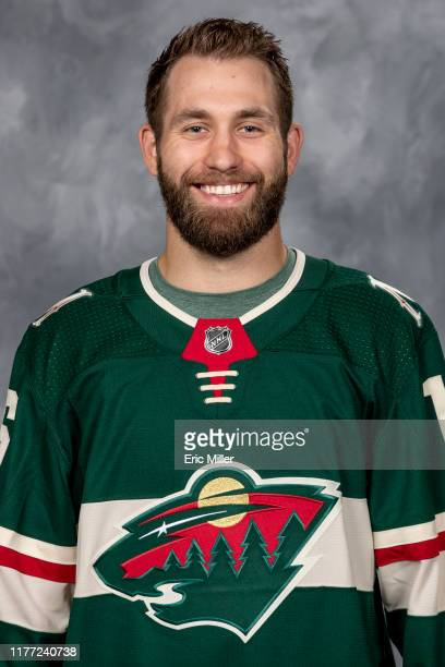Jason Zucker of the Minnesota Wild poses for his official headshot for the 2019-2020 season on September 12, 2019 at the Tria Practice Rink of the...